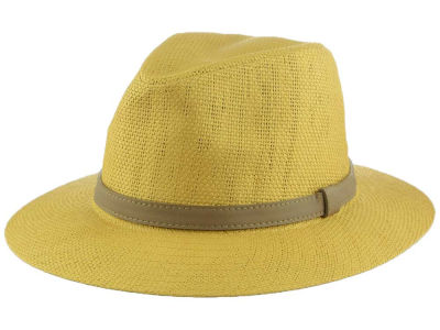 LIDS Private Label Brown Paper Wide Brim Fedora