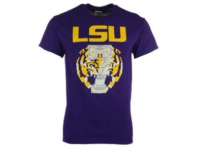 LSU Tigers NCAA Men's #7 Faded Tiger Head T-Shirt