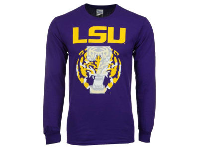 LSU Tigers NCAA #7 Faded Tiger Head Long Sleeve T-Shirt