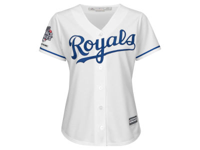 Kansas City Royals Majestic MLB Women's 2015 World Series Champ Patch Jersey