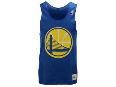 Golden State Warriors Mitchell and Ness NBA Men's Drop Step Reversible Mesh Tank