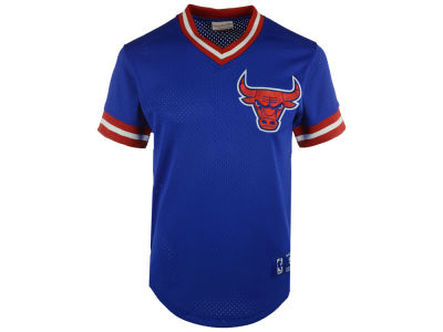 Chicago Bulls Mitchell and Ness NBA Men's Color Switch Baseball Top