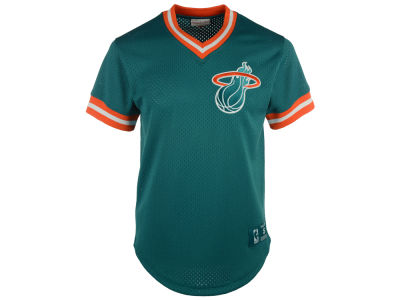 Miami Heat Mitchell and Ness NBA Men's Color Switch Baseball Top
