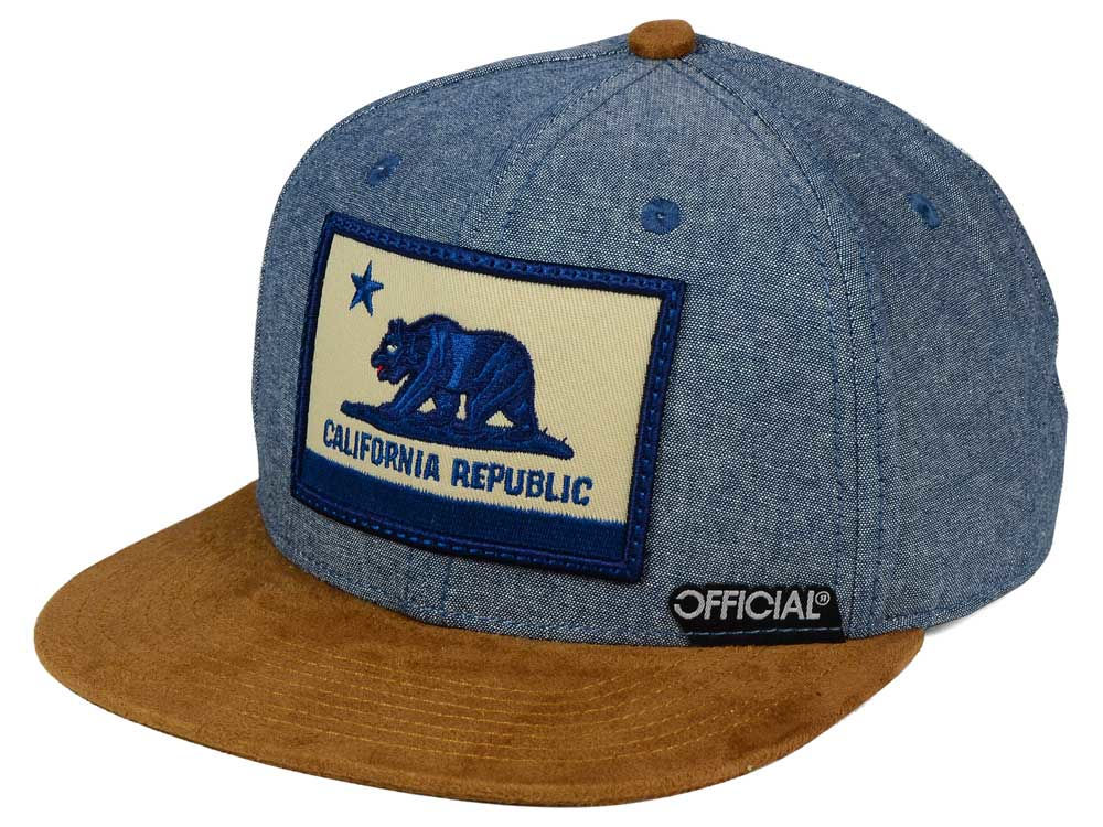 478749ee77b Official Cali Cham Suede Strapback Cap