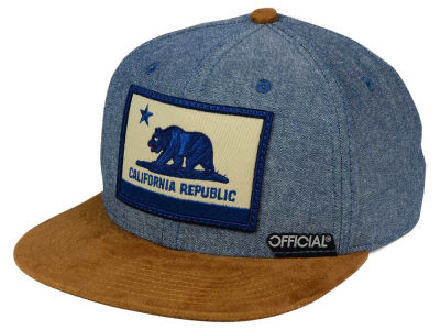 Official Cali Cham Suede Strapback Cap