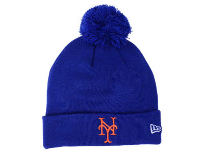 New York Mets New Era MLB Pom Knit
