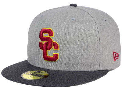 USC Trojans New Era NCAA Heather Action 59FIFTY Cap