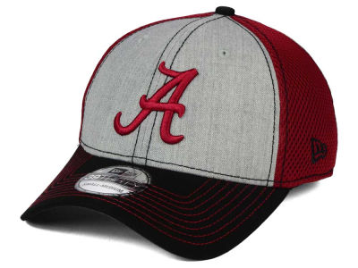 Alabama Crimson Tide New Era NCAA Heathered Neo 39THIRTY Cap