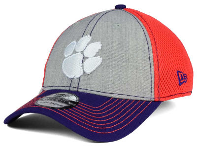 Clemson Tigers New Era NCAA Heathered Neo 39THIRTY Cap