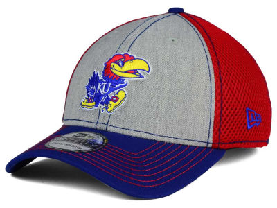 Kansas Jayhawks New Era NCAA Heathered Neo 39THIRTY Cap