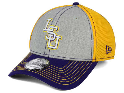 LSU Tigers New Era NCAA Heathered Neo 39THIRTY Cap
