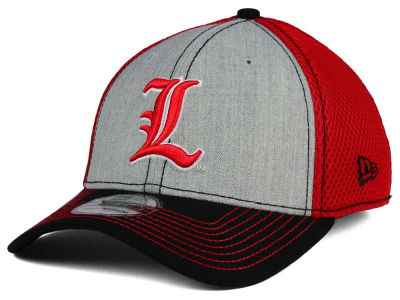 Louisville Cardinals New Era NCAA Heathered Neo 39THIRTY Cap