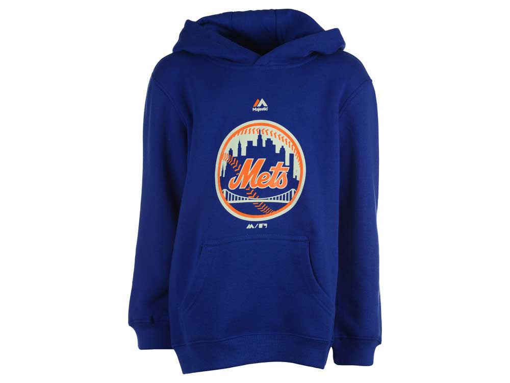 uk availability 39932 1f0fb New York Mets Majestic MLB Youth Primary Logo Hoodie