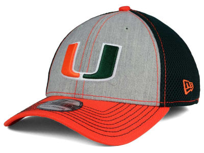 Miami Hurricanes New Era NCAA Heathered Neo 39THIRTY Cap