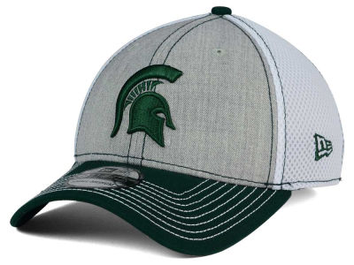 Michigan State Spartans New Era NCAA Heathered Neo 39THIRTY Cap