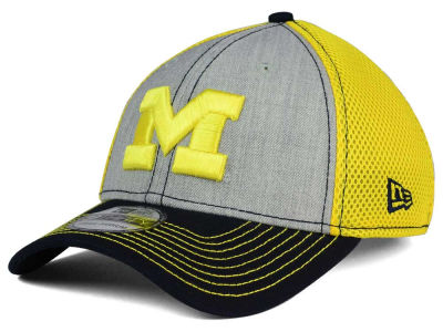 Michigan Wolverines New Era NCAA Heathered Neo 39THIRTY Cap