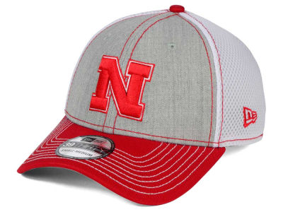 Nebraska Cornhuskers New Era NCAA Heathered Neo 39THIRTY Cap
