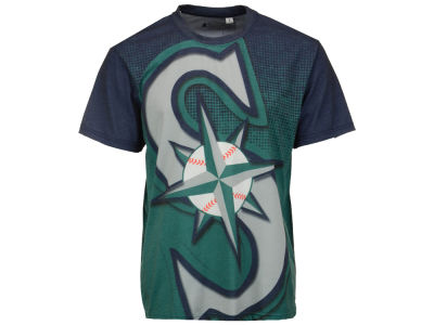 Seattle Mariners MLB Men's Big Logo Sublimated T-Shirt