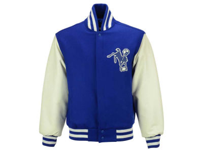 Indianapolis Colts NFL Men's Wool and Leather Jacket