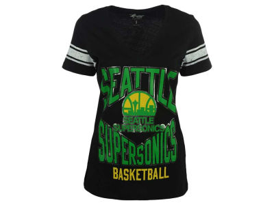 Seattle SuperSonics GIII NBA Women's Block Foil T-Shirt