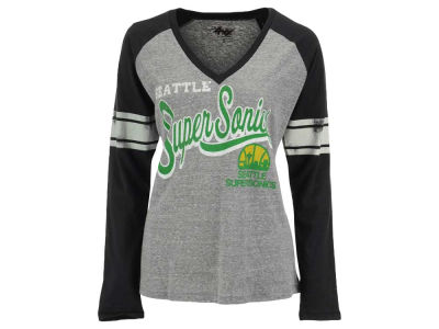 Seattle SuperSonics GIII NBA Women's Stripe Long Sleeve T-Shirt