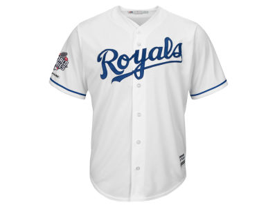 Kansas City Royals MLB World Series Champ Patch Replica Coolbase Jersey 15