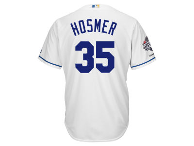 Kansas City Royals Eric Hosmer MLB Men's 2015 World Series Champ Patch Player Cool Base Jersey