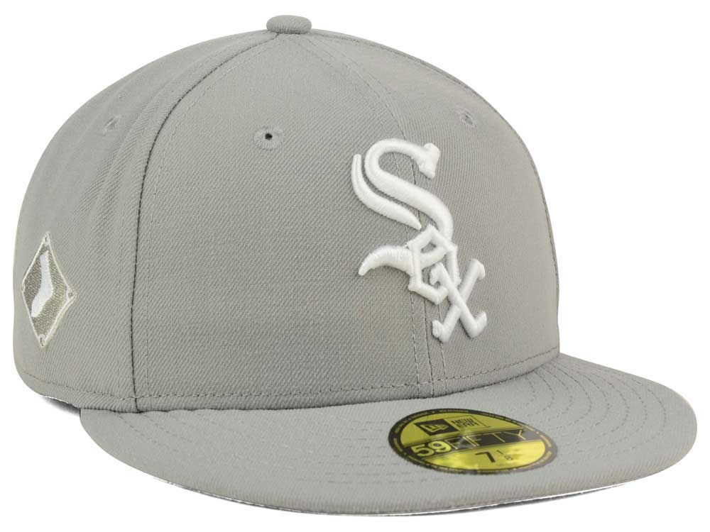 buy popular 428a4 6db77 aliexpress chicago white sox new era mlb c dub patch 59fifty cap ba6f5 47aba