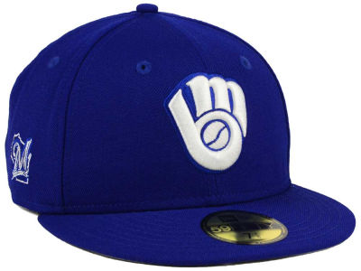 Milwaukee Brewers New Era MLB C-Dub Patch 59FIFTY Cap