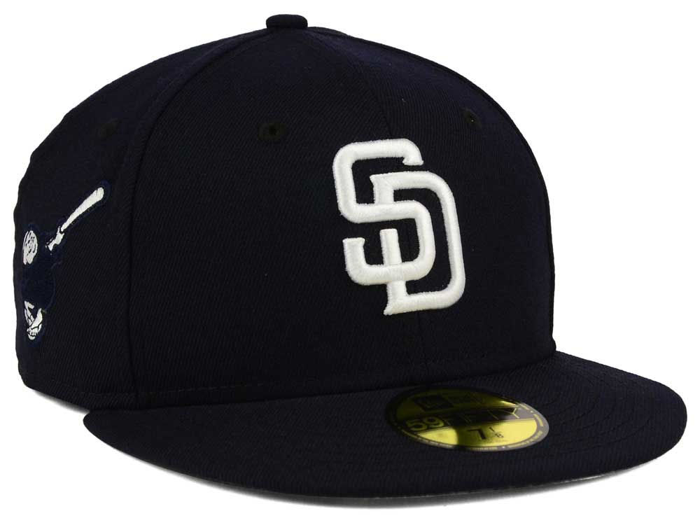 save off 3d798 87bfa San Diego Padres New Era MLB C-Dub Patch 59FIFTY Cap   lids.com