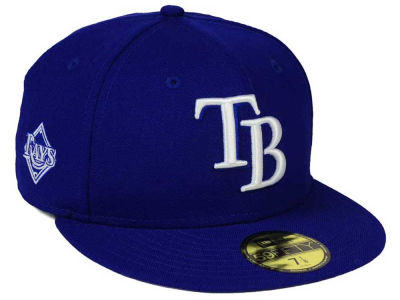 Tampa Bay Rays New Era MLB C-Dub Patch 59FIFTY Cap