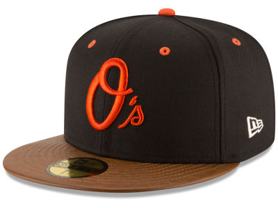 Baltimore Orioles New Era MLB Leather Banner Patch 59FIFTY Cap