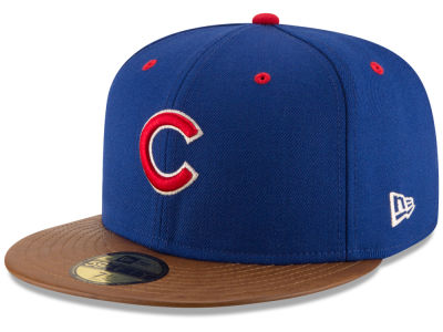 Chicago Cubs New Era MLB Leather Banner Patch 59FIFTY Cap