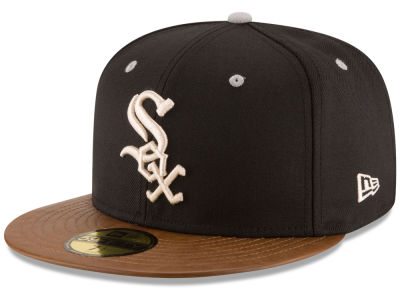 Chicago White Sox New Era MLB Leather Banner Patch 59FIFTY Cap