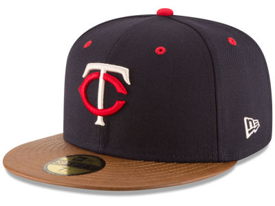 Minnesota Twins New Era MLB Leather Banner Patch 59FIFTY Cap
