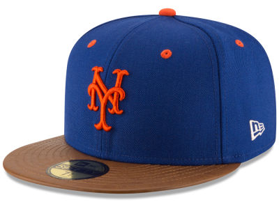 New York Mets New Era MLB Leather Banner Patch 59FIFTY Cap