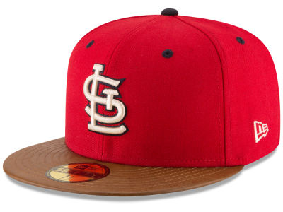 St. Louis Cardinals New Era MLB Leather Banner Patch 59FIFTY Cap