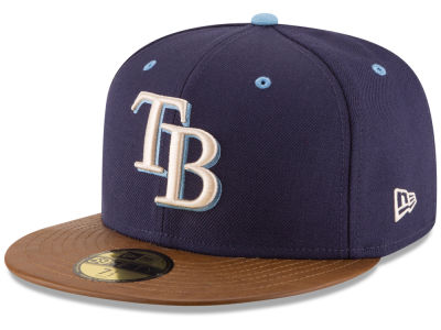 Tampa Bay Rays New Era MLB Leather Banner Patch 59FIFTY Cap