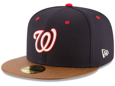 Washington Nationals New Era MLB Leather Banner Patch 59FIFTY Cap