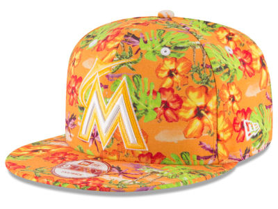 Miami Marlins New Era MLB Spring Time 9FIFTY Snapback Cap