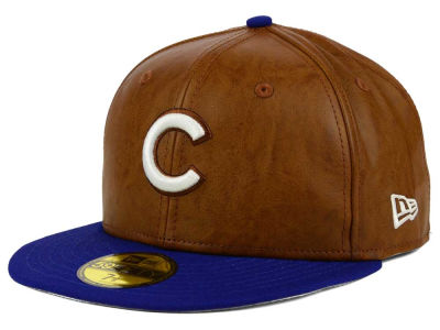Chicago Cubs New Era MLB So Leather 2-Tone 59FIFTY Cap