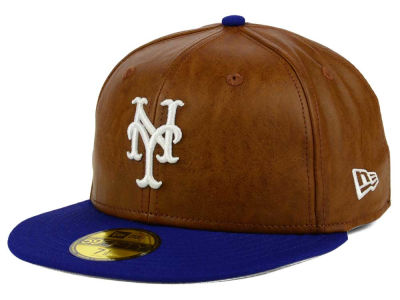 New York Mets New Era MLB So Leather 2-Tone 59FIFTY Cap