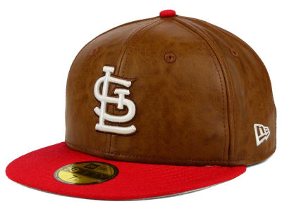 St. Louis Cardinals New Era MLB So Leather 2-Tone 59FIFTY Cap