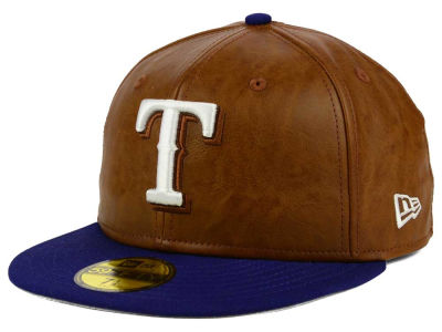 Texas Rangers New Era MLB So Leather 2-Tone 59FIFTY Cap