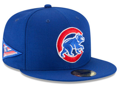 Chicago Cubs New Era MLB Banner Patch 59FIFTY Cap
