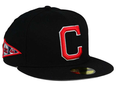 Cleveland Indians New Era MLB Banner Patch 59FIFTY Cap