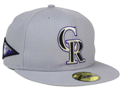 Colorado Rockies New Era MLB Banner Patch 59FIFTY Cap
