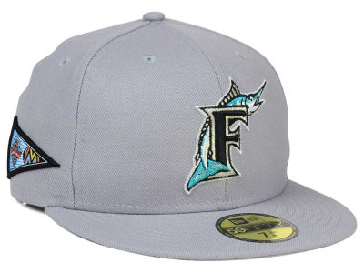 Florida Marlins New Era MLB Banner Patch 59FIFTY Cap