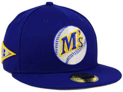Seattle Mariners New Era MLB Banner Patch 59FIFTY Cap