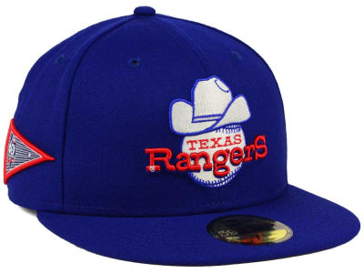 Texas Rangers New Era MLB Banner Patch 59FIFTY Cap
